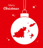 Merry Christmas Map Guernsey Stock Image