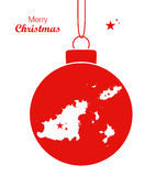 Merry Christmas Map Guernsey Royalty Free Stock Photos