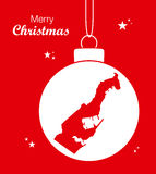 Merry Christmas Map Monaco Royalty Free Stock Images