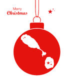 Merry Christmas Map St. Kitts and Nevis Royalty Free Stock Photo