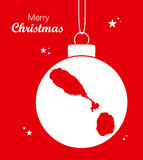 Merry Christmas Map St. Kitts and Nevis Stock Photography