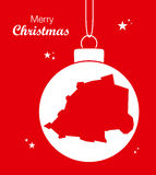 Merry Christmas Map Vatican City Stock Images