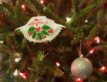 Merry Christmas Maryland Crab Ornament Stock Photography