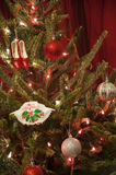 Merry Christmas Maryland Crab Ornament Stock Image