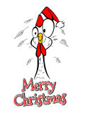 Merry Christmas Merry Christmas Year chicken rooster comical funny. Vector illustration Merry Christmas happy New Year chicken rooster comical funny stock illustration