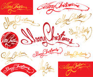Merry Christmas message. Elements Royalty Free Stock Images