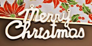 Merry Christmas message Stock Image