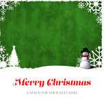 Merry Christmas message Royalty Free Stock Photos