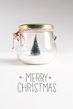 Merry Christmas message with Christmas tree Stock Photography