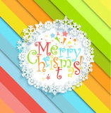 Merry Christmas message in the frame. Stock Photography