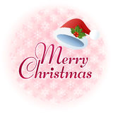 Merry Christmas  message illustration Royalty Free Stock Photo