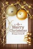 Merry Christmas message Stock Image