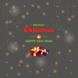 Merry Christmas message and presents Royalty Free Stock Photos
