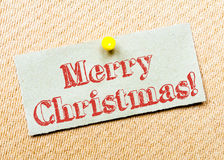 Merry Christmas Message Stock Photo