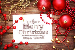 Merry Christmas message Stock Photo
