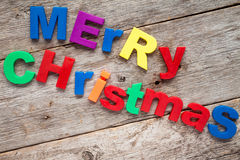 Merry Christmas message Stock Images