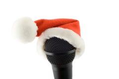Merry christmas microphone stock image