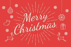 Merry christmas minimal line Stock Image