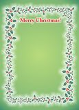 Merry Christmas Mistletoe Photo Frame Card Royalty Free Stock Photography