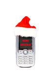 Merry Christmas mobile phone Royalty Free Stock Photos