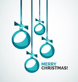 Merry Christmas modern card - abstract baubles Royalty Free Stock Images