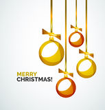 Merry Christmas modern card - abstract baubles Stock Photo