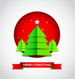 Merry Christmas with modern Christmas tree Royalty Free Stock Photos