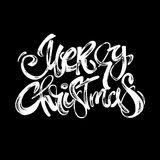 Merry Christmas modern lettering greeting card. Royalty Free Stock Photography
