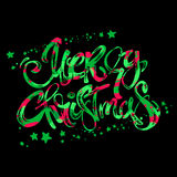 Merry Christmas modern lettering greeting card. Stock Images