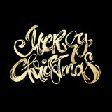 Merry Christmas modern lettering greeting card. Royalty Free Stock Images
