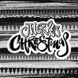 Merry Christmas modern lettering greeting card. Royalty Free Stock Image