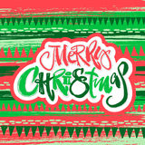 Merry Christmas modern lettering greeting card. Royalty Free Stock Photos