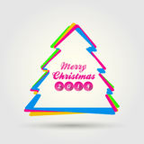 Merry christmas with modern style Stock Photo
