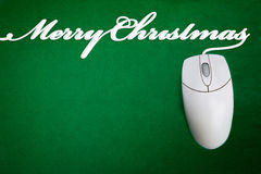 Merry Christmas Mouse Cord Royalty Free Stock Images