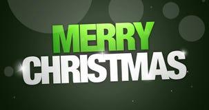 Merry Christmas Movie stock footage