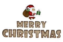 Merry Christmas, Mulberry paper Christmas Stock Photo