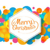 Merry Christmas multicolor background for your Royalty Free Stock Photography