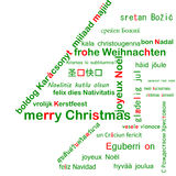 Merry Christmas Multilanguage Stock Photo