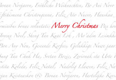 Merry Christmas Multilanguage Royalty Free Stock Images