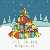 Merry Christmas  and New Year�s card Royalty Free Stock Photo