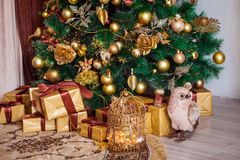 Merry christmas and new year background Stock Photo