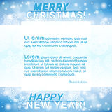 Merry Christmas New Year Background. Merry Christmas and Happy New Year greeting card. Christmas background with place for text. Vector illustration royalty free illustration