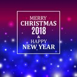 Merry Christmas and New Year background. Christmas Lights Concept. Vector illustration.  Stock Photography