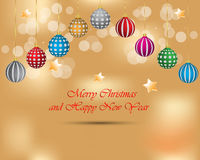 Merry Christmas and New Year background. Stock Image