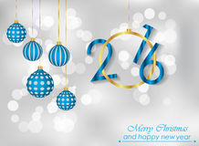 Merry Christmas and New Year background. Merry Christmas and New Year background for your invitations, festive posters Vector Illustration