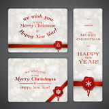 Merry Christmas and New Year banners Stock Images
