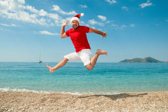 Merry Christmas and the new year on the beach.  Stock Photography