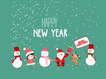 Merry Christmas and New Year Card with Background.  vector illustration