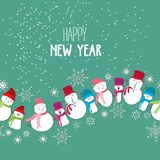 Merry Christmas and New Year Card with Background.  stock illustration
