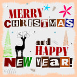 MERRY CHRISTMAS AND NEW YEAR CARD... Stock Photography